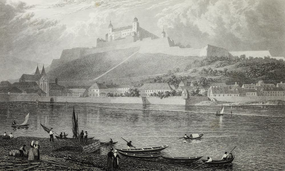 Scenery of the Rhine, Belgium and Holland - Citadel of Wurzburg (1826)