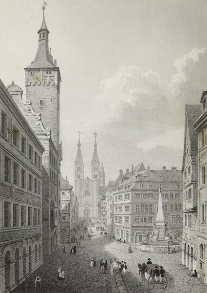 Scenery of the Rhine, Belgium and Holland - The Dom Gasse, Wurzburg (1826)