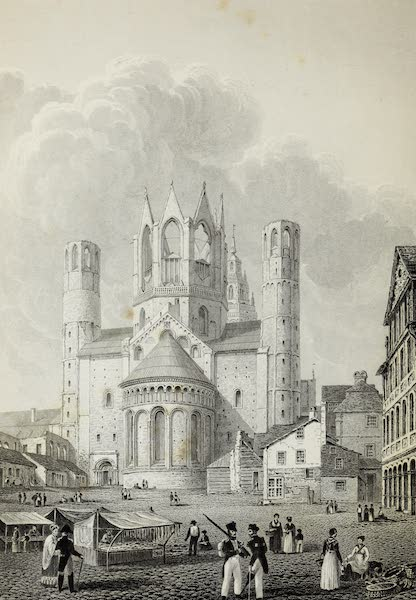 Scenery of the Rhine, Belgium and Holland - Cathedral at Mayence (1826)