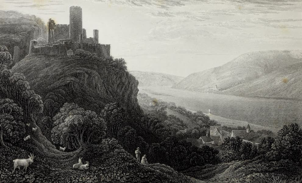 Scenery of the Rhine, Belgium and Holland - Castle of Furstenfels (1826)
