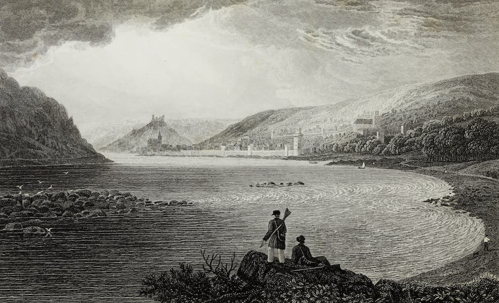 Scenery of the Rhine, Belgium and Holland - Oberwesel (1826)
