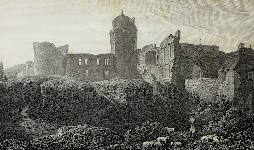 Scenery of the Rhine, Belgium and Holland - Ruins at Andernach (1826)