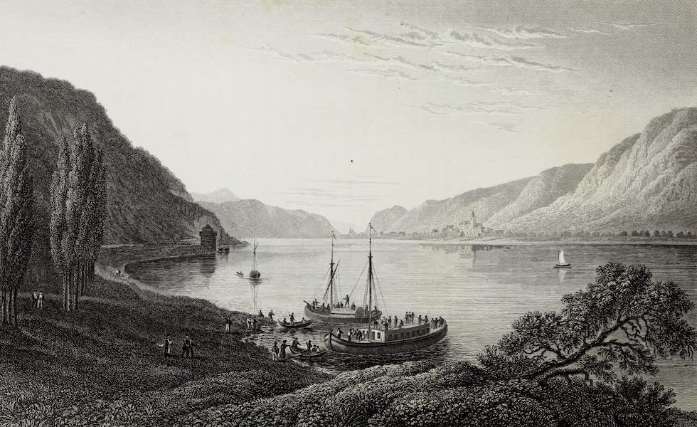 Scenery of the Rhine, Belgium and Holland - View from Andernach (1826)