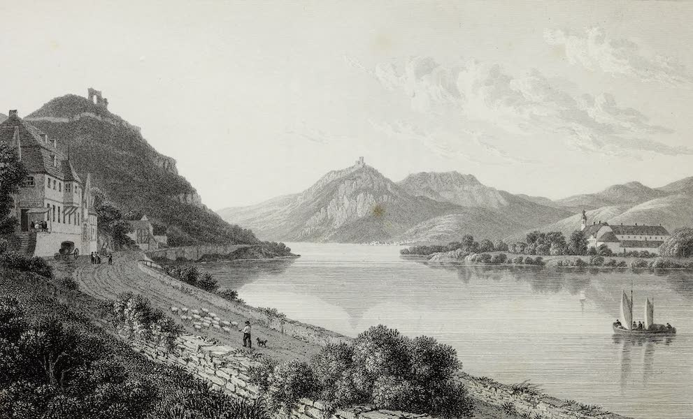 Scenery of the Rhine, Belgium and Holland - Drachenfels and Rolands-Ech (1826)