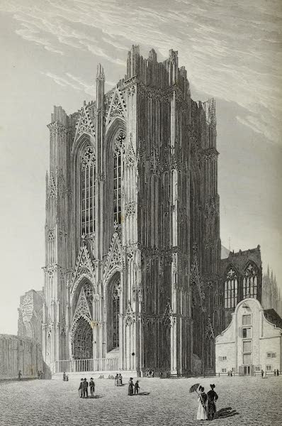 Scenery of the Rhine, Belgium and Holland - Tower of the Cathedral at Cologne (1826)