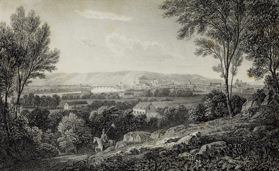 Scenery of the Rhine, Belgium and Holland - Namur from the Riad to Liege (1826)