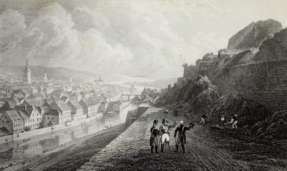 Scenery of the Rhine, Belgium and Holland - Namur from the Citadel (1826)
