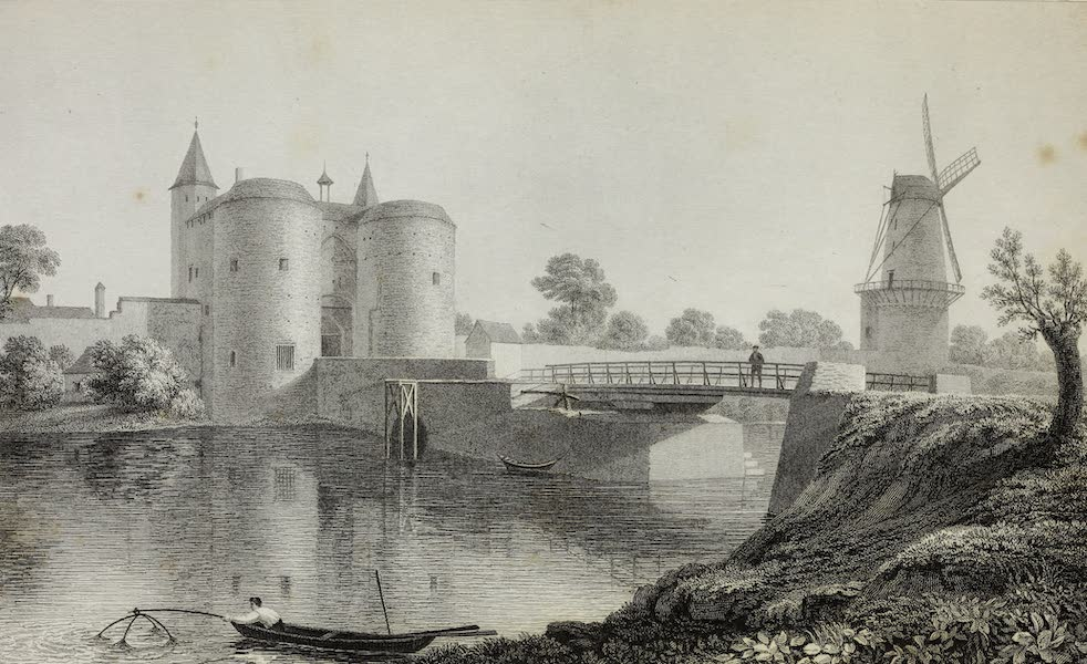 Scenery of the Rhine, Belgium and Holland - Ghent Gate at Bruges (1826)