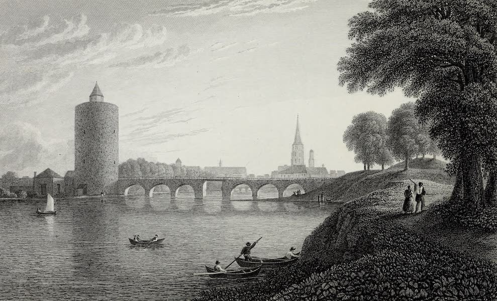 Scenery of the Rhine, Belgium and Holland - The Minne Water, Bruges (1826)