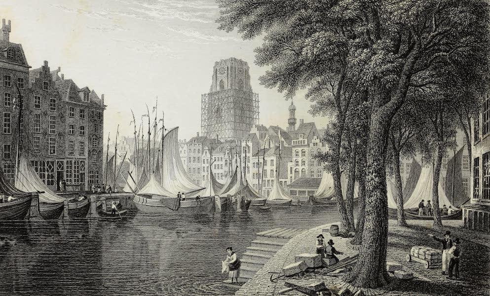 Scenery of the Rhine, Belgium and Holland - The Kolk, Rotterdam (1826)