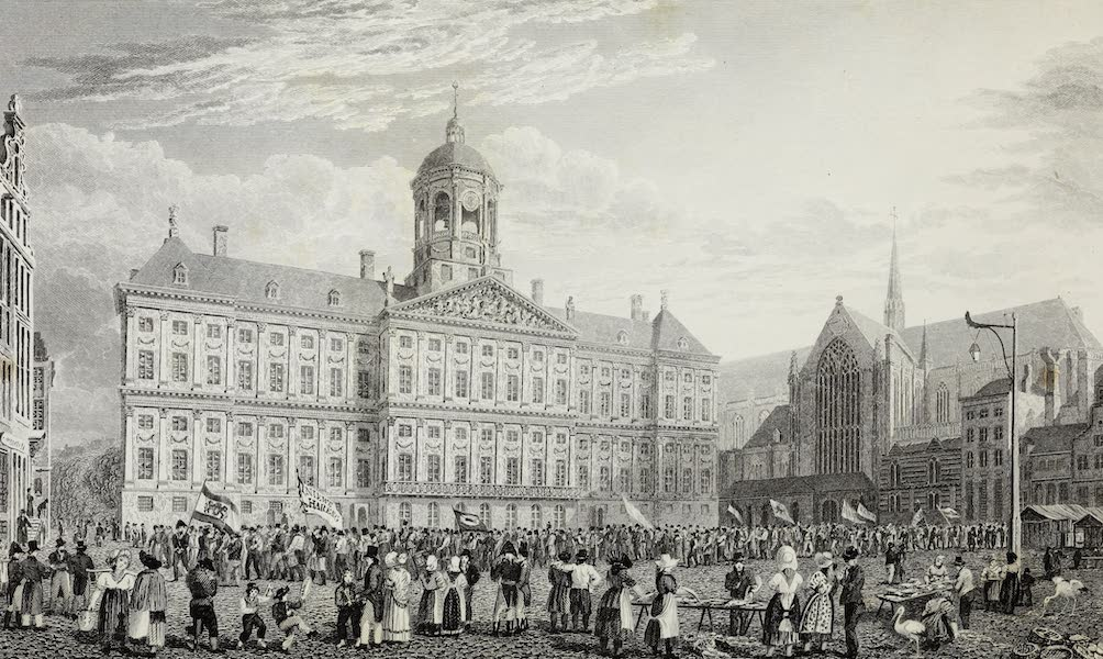 Scenery of the Rhine, Belgium and Holland - The Palace, Amsterdam (1826)