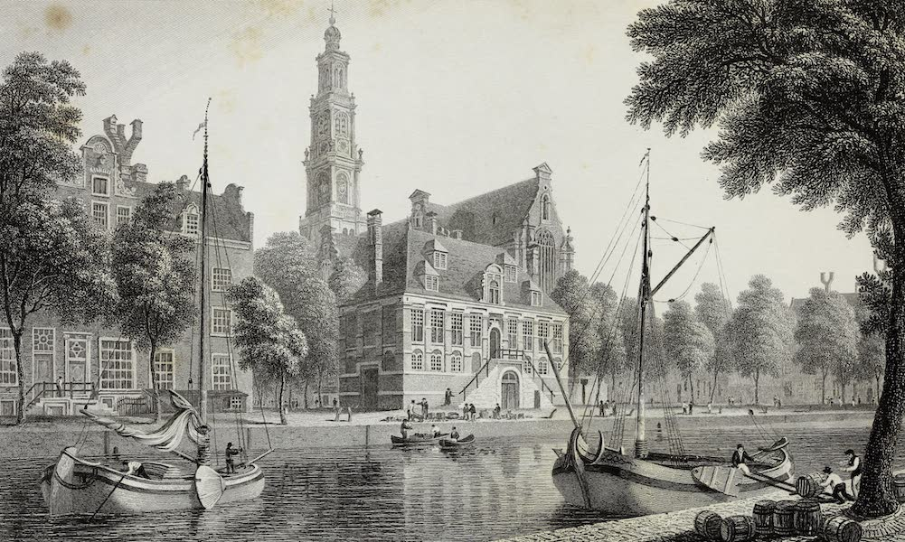 Scenery of the Rhine, Belgium and Holland - The Wester Kerk, Amsterdam (1826)