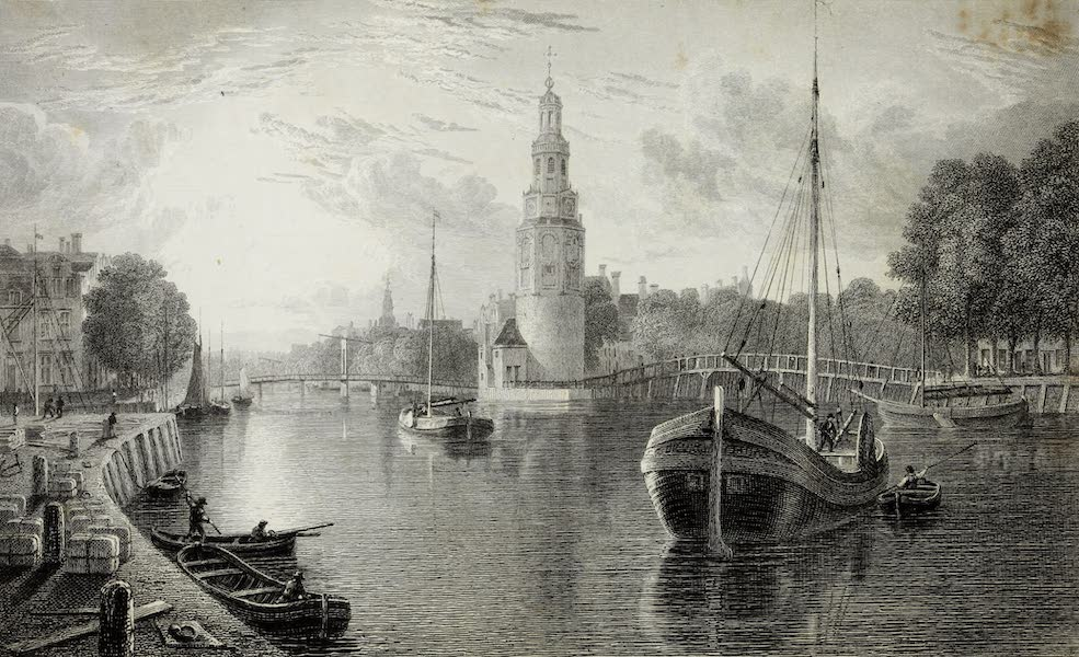 Scenery of the Rhine, Belgium and Holland - Montalban's Tower, Amsterdam (1826)