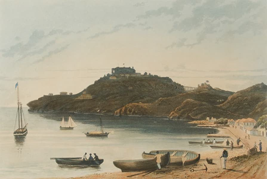 Scenery of the Windward and Leeward Islands - Fort Charlotte, St. Vincent's from Kingston. [Engraved by N. Fielding] (1837)