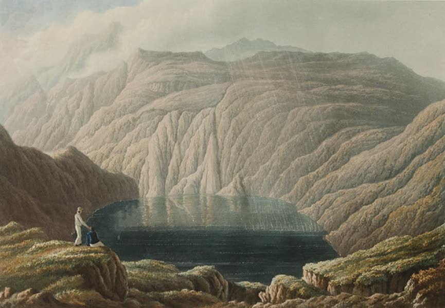 Scenery of the Windward and Leeward Islands - The Old Crater of the Soufriere, St. Vincent. [Engraved by W. Westall] (1837)