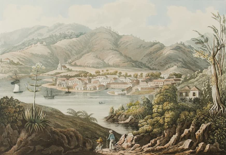 The Town of Castries, St. Lucia. [Engraved by N. Fielding]