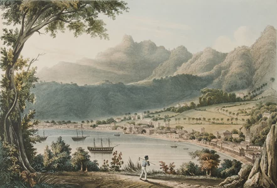 Kingstown / St. Vincent's from Cane-Garden Point. [Engraved by J. Harris]