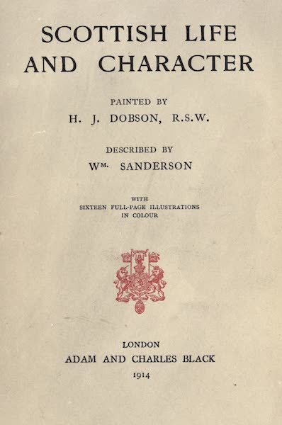 Scottish Life and Character - Title Page (1906)