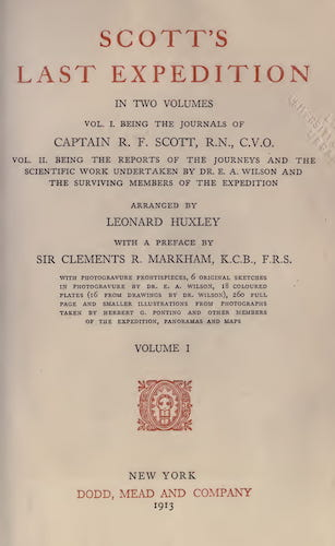 Scott's Last Expedition Vol. 1 (1913)