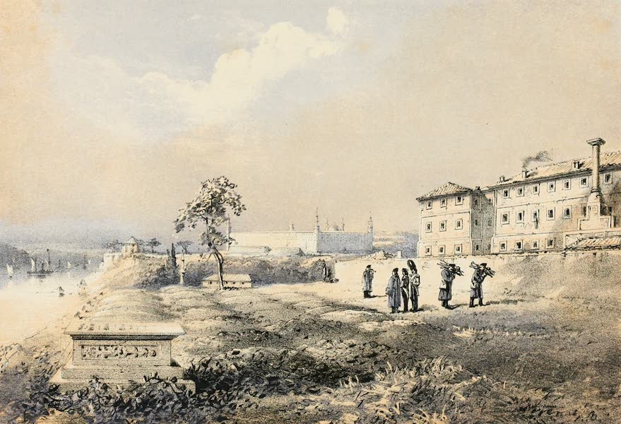 Scutari and It's Hospitals - Burial Ground at Scutari (1855)