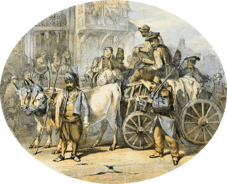 Scutari and It's Hospitals - First Russian Prisoners (Under French Guard) (1855)