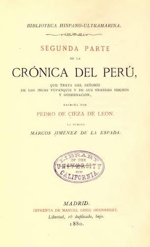 Spanish - Segunda Parte de La Cronica del Peru