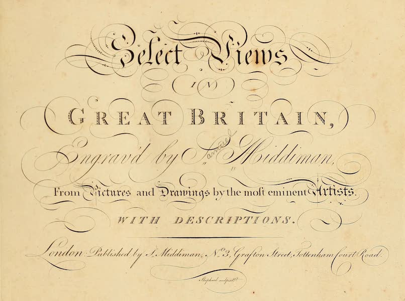 Select Views in Great Britain - Title Page (1813)