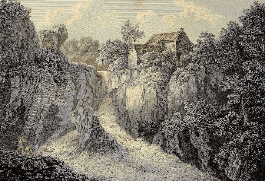 Select Views in Great Britain - Skelwith Cascade (1813)