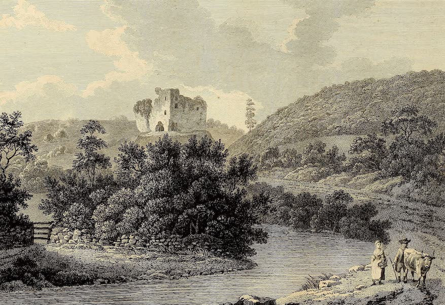 Select Views in Great Britain - View of Oakhampton Castle (1813)