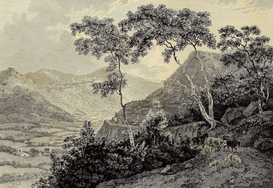 Select Views in Great Britain - View of Llangollen Vale (1813)