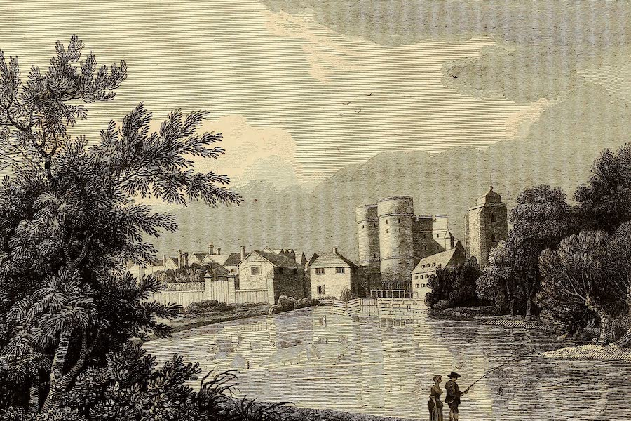 Select Views in Great Britain - South West View of West Gate, Canterbury (1813)