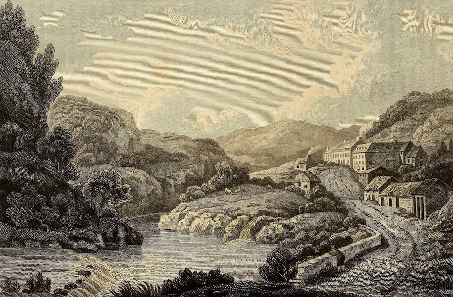 Select Views in Great Britain - View of Matlock Bath, Derbyshire (1813)