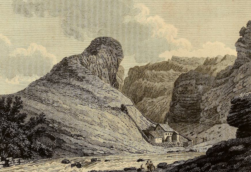 Select Views in Great Britain - View of the Prating Rock, Somersetshire (1813)
