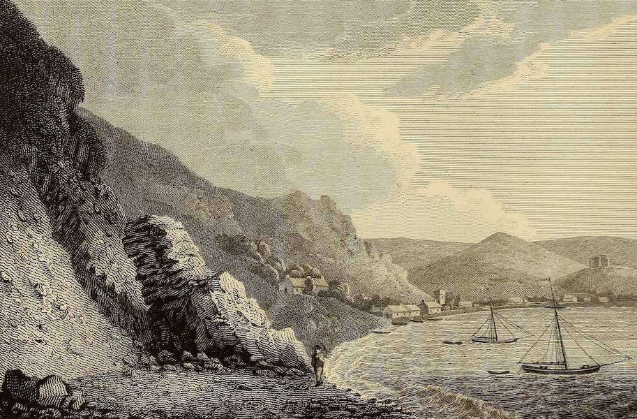 Select Views in Great Britain - View of Oystermouth in Swansea Bay (1813)