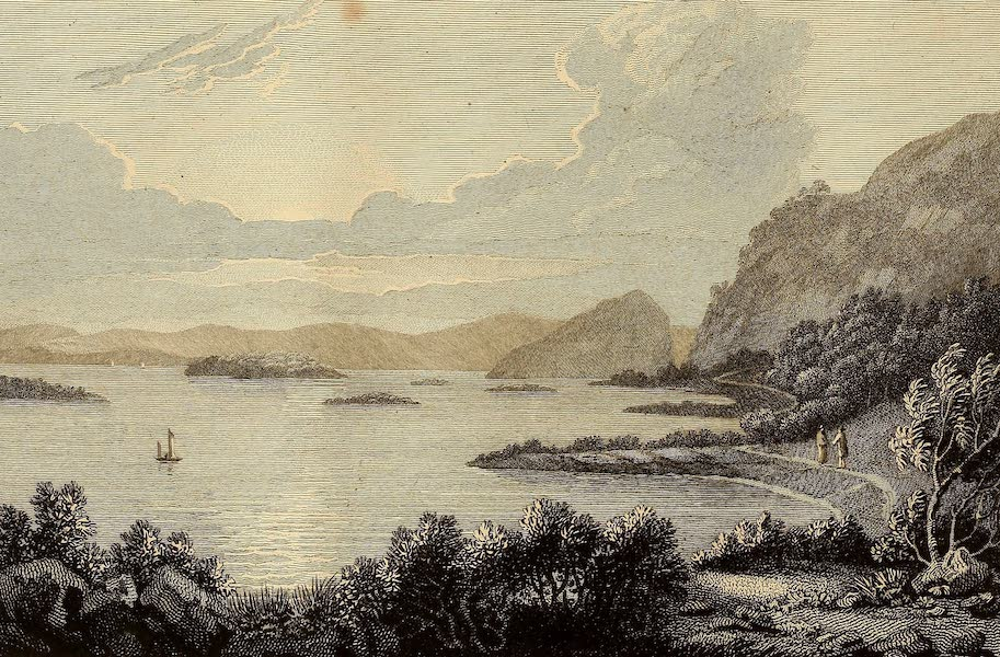 Select Views in Great Britain - A View of Loch Lomond from the Point of Firkin, looking towards Dumbarton (1813)