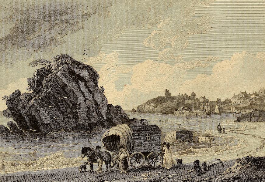 Select Views in Great Britain - Monk's Rock, Tenby (1813)