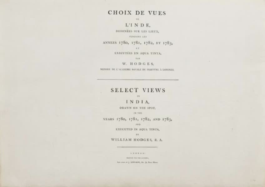 Select Views in India - Title Page (1797)