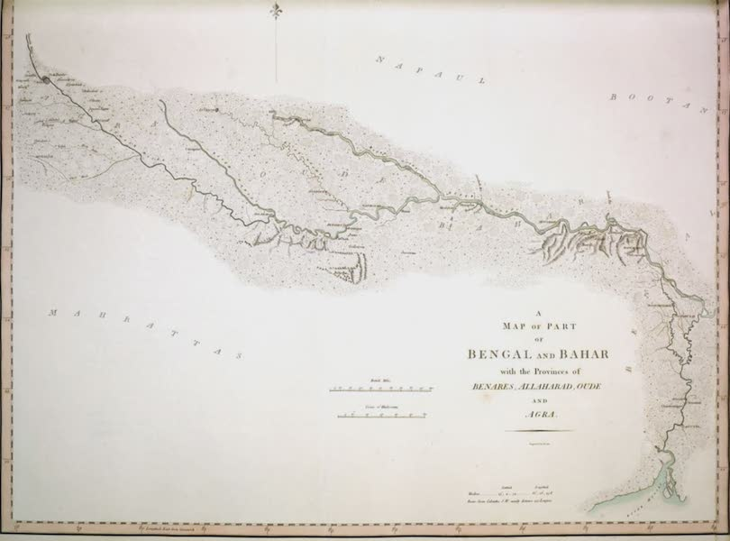 Select Views in India - A Map of Part of Bengal and Bahar, with the provinces of Benares, Allahabad, Oude, and Agra (1797)