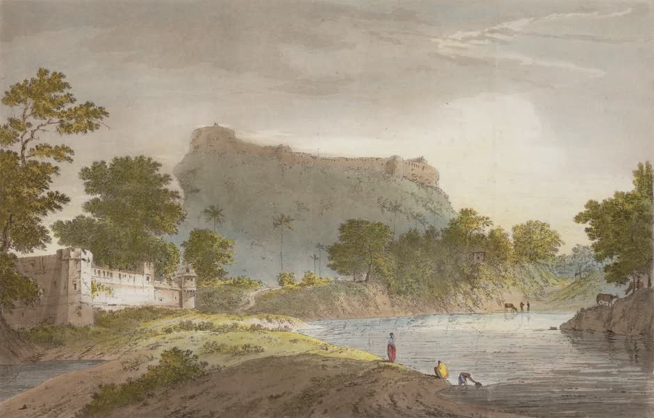 Select Views in India - A View of the North End of Chunar Gur (1797)