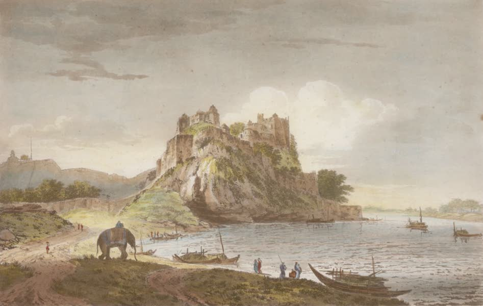 Select Views in India - A View of the So. West Side, of Chunar Gur (1797)