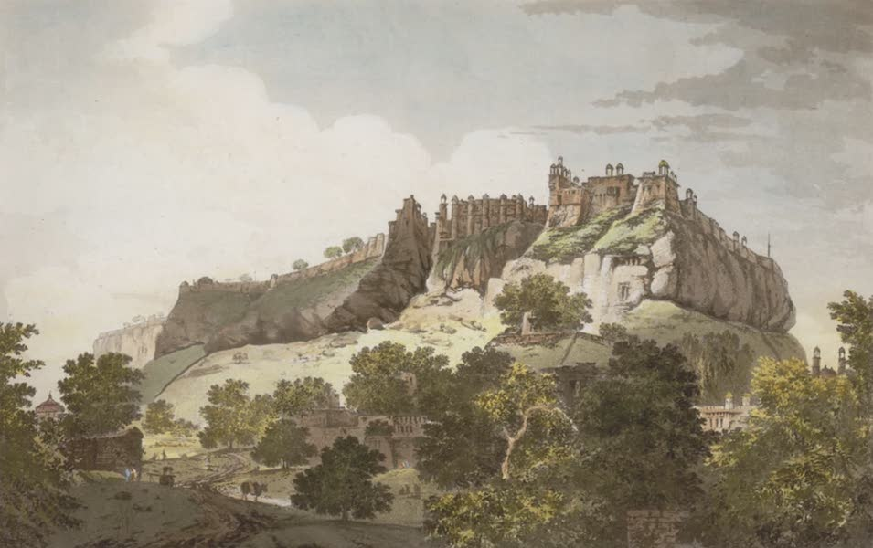 Select Views in India - A View of the Fort of Gwalior, from the N.W. (1797)