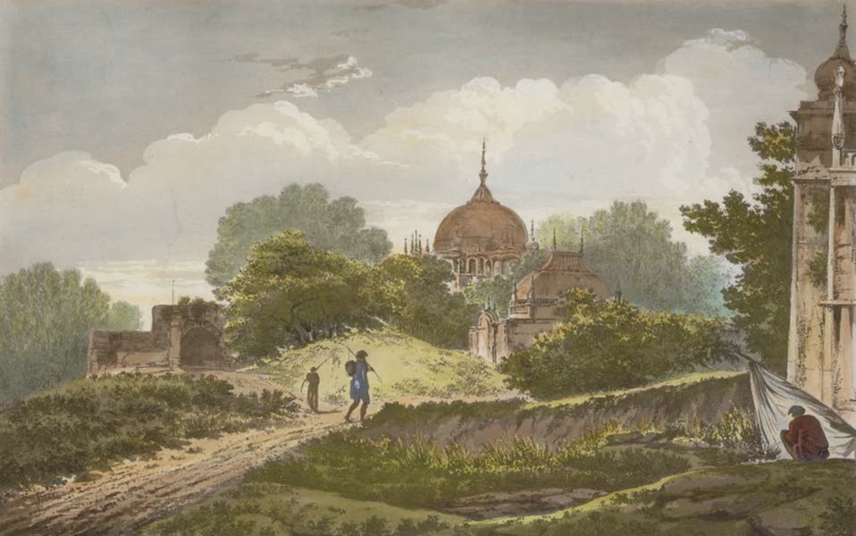 Select Views in India - A View of Tombs at Ghazipoor (1797)