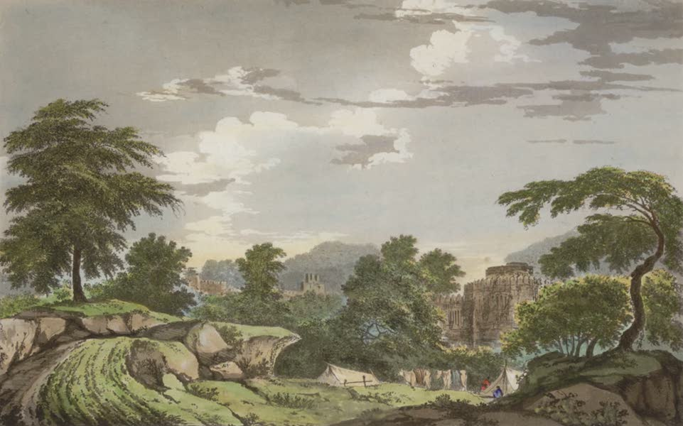 Select Views in India - A View of Part of the Fort of Luttefpour (1797)