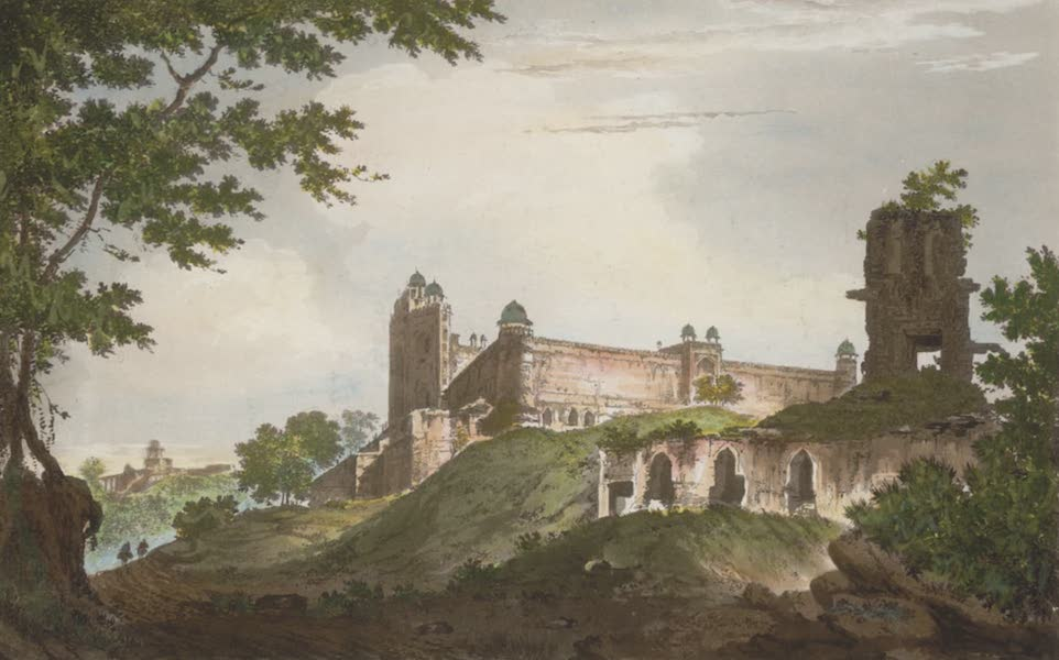 Select Views in India - A View of the Mosque at Futtipoor Sicri (1797)