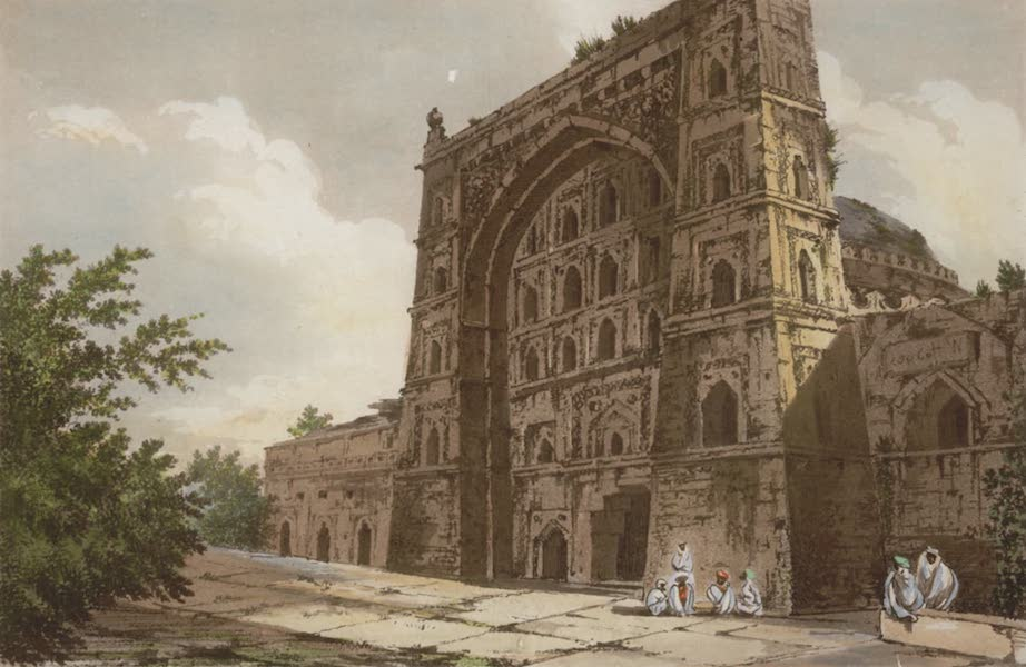 Select Views in India - A View of a Musjid, i.e. Tomb at Jionpoor (1797)