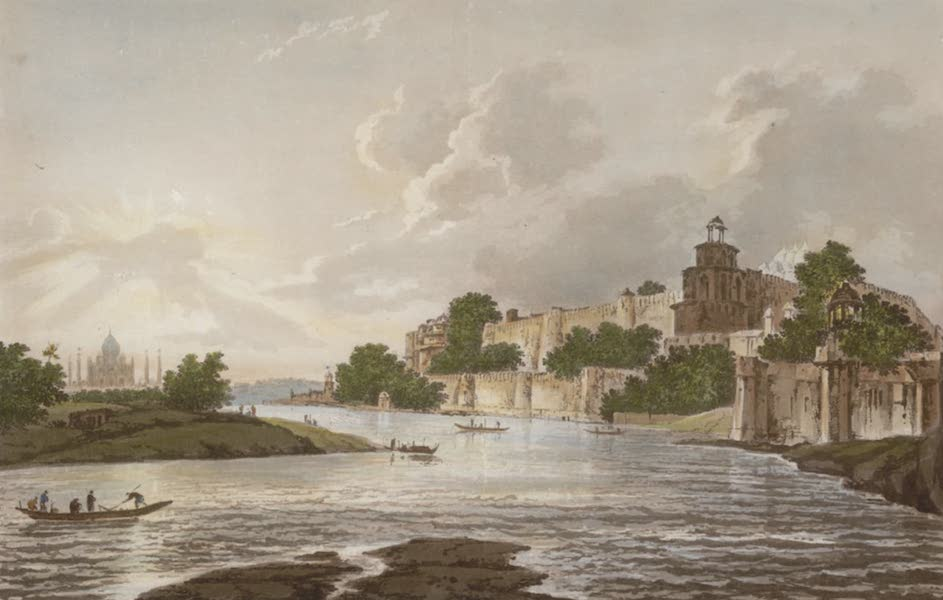 Select Views in India - A View of the Fort of Agra, on the River Jumna (1797)