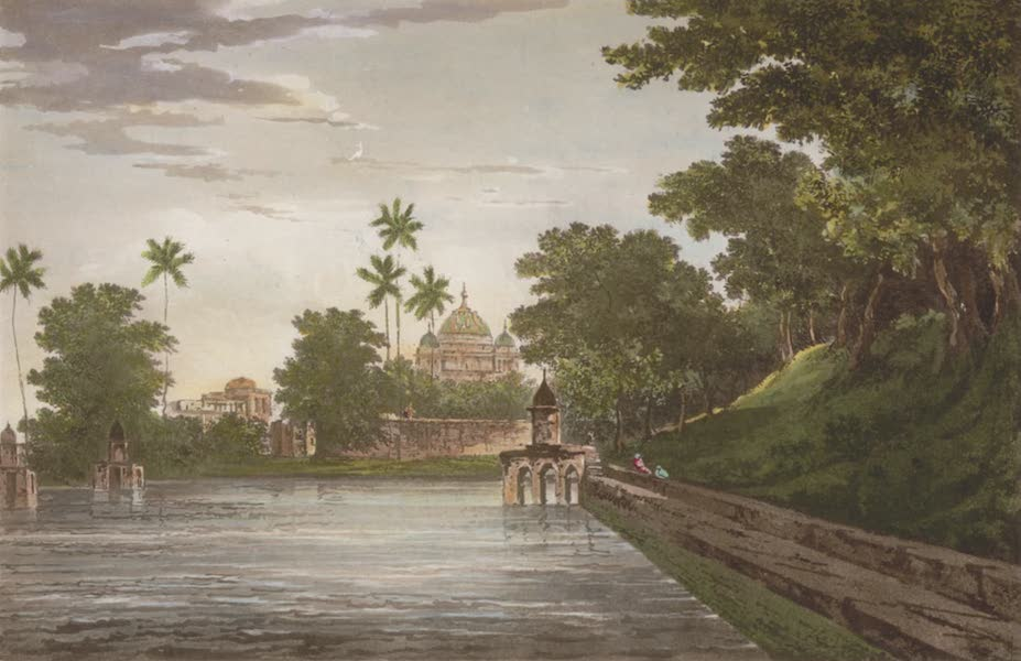 Select Views in India - A View of a Mosque, at Mounheer (1797)