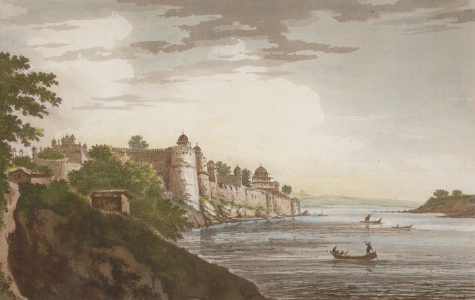 Select Views in India - A View of the Fort of Allahabad (1797)