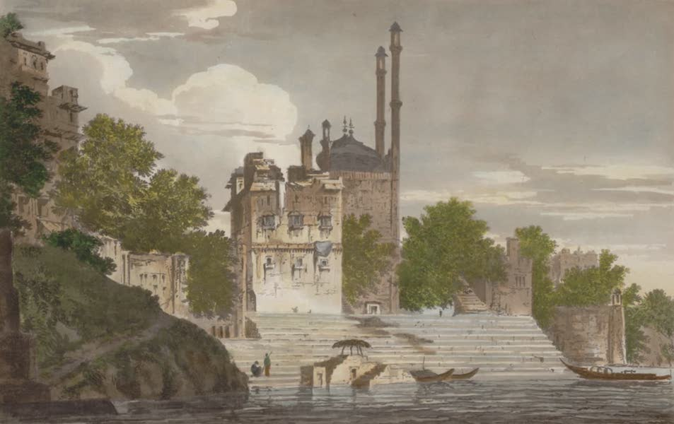 Select Views in India - A View of Part of the city of Benares, upon the Ganges (1797)