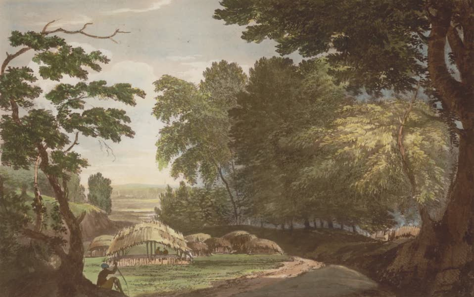 Select Views in India - A View of a Hill Village in the District of Baugelpoor (1797)